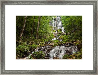 Framed Print featuring the photograph Amicalola Falls by Michael Sussman