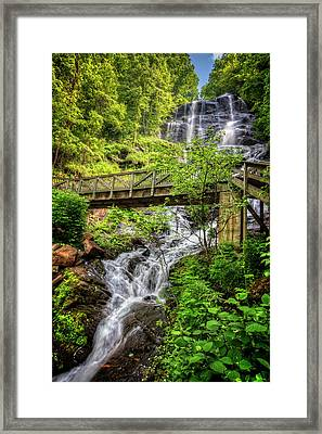 Framed Print featuring the photograph Amicalola Falls Top To Bottom by Debra and Dave Vanderlaan