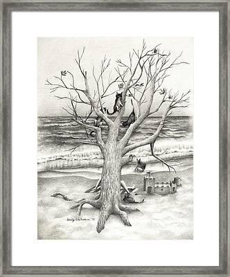 Amidst My Storm Framed Print by Emily Wickerham