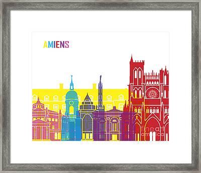 Amiens Skyline Pop Framed Print