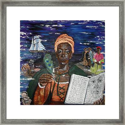 Aminata's Book Of Negroes Framed Print