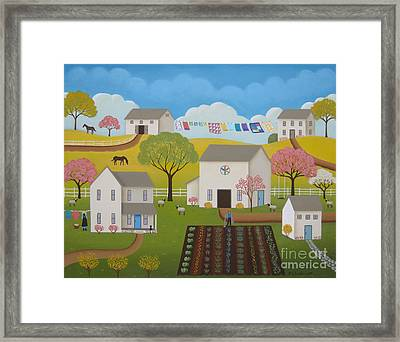 Amish Afternoon Framed Print