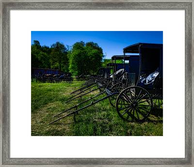 Amish Auction Day Framed Print by Chris Bordeleau