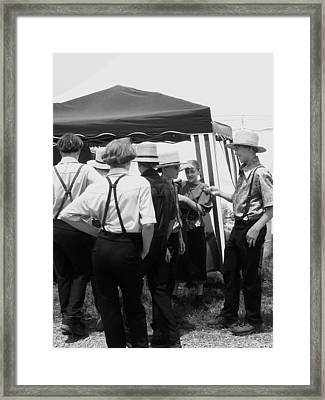 Amish Auction Day Framed Print by Eric  Schiabor