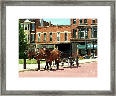 Amish Buggy Framed Print by Desiree Paquette
