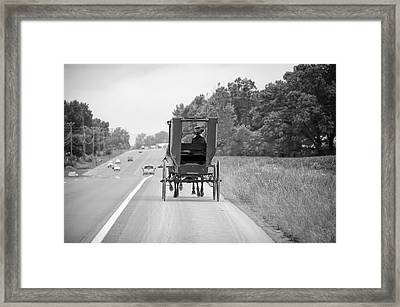 Amish Buggy Framed Print by Steven Michael