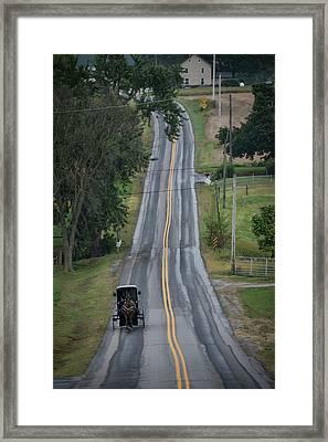 Amish Buggy Strasburg Pa Framed Print by Jim Pearson