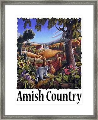 Amish Country - Coon Gap Holler Country Farm Landscape Framed Print by Walt Curlee