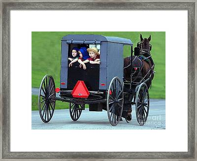 Amish Country Tour Framed Print by Randy Matthews