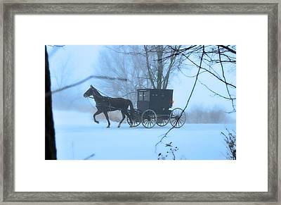 Amish Dreamscape Framed Print