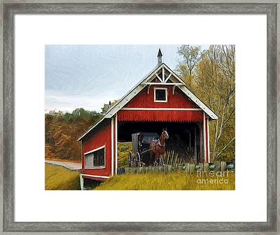 Amish Era Framed Print