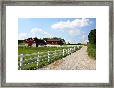 Amish Farm Framed Print by Gary Bydlo