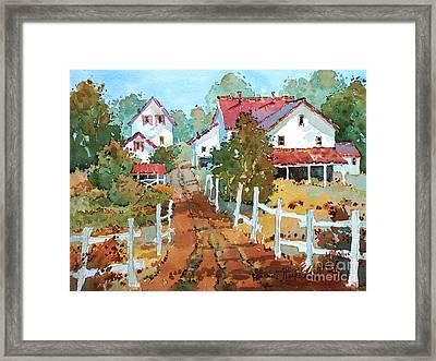Amish Farm Framed Print