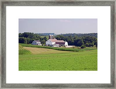 Amish Farm Framed Print by Joyce Huhra