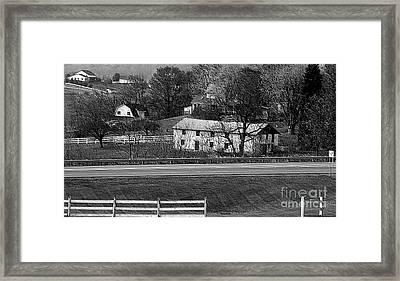Amish Farm Framed Print by Kathleen Struckle