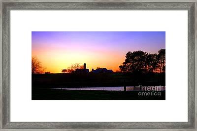 Amish Farm Sunset Framed Print