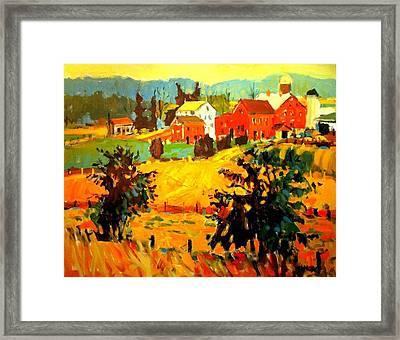 Amish Farms Framed Print by Brian Simons