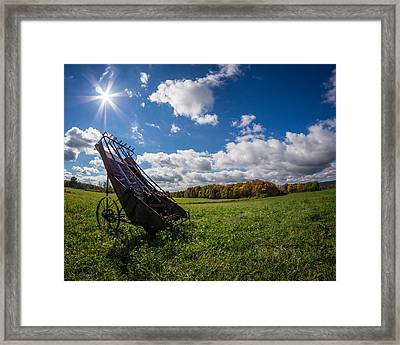 Amish Hay Loader Framed Print by Chris Bordeleau