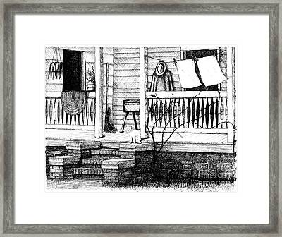 Amish Homestead Back Porch Framed Print by Dawn Boyer