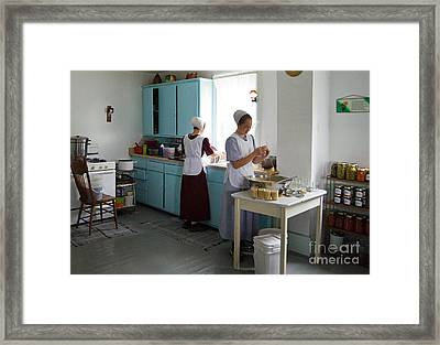 Amish Kitchen Framed Print