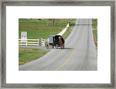 Amish Life Framed Print by Joyce Huhra