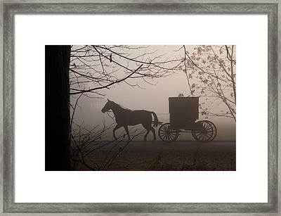 Amish Morning 1 Framed Print