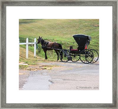 Amish Transportation Framed Print