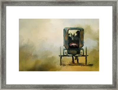 Amish Wagon Framed Print by Jai Johnson