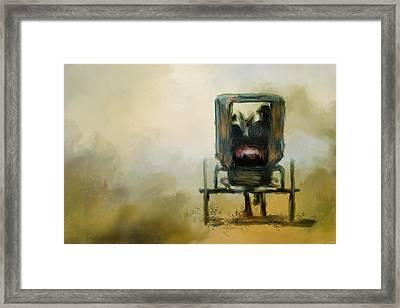 Amish Wagon Framed Print