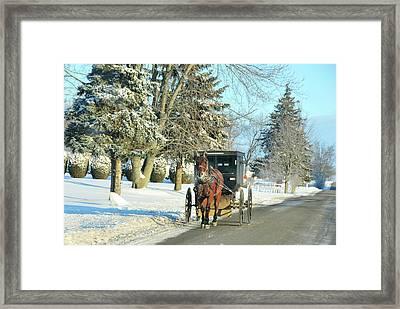 Amish Winter Framed Print
