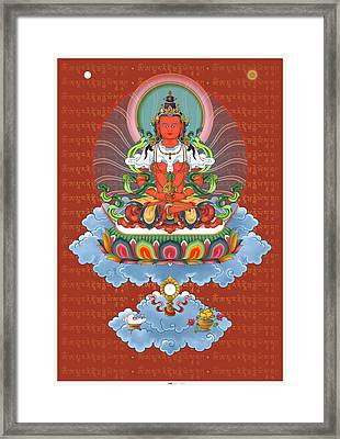 Amitayus With Mantra Framed Print