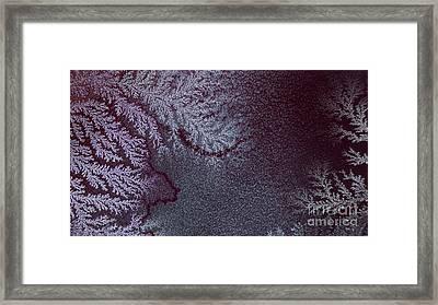 Ammonium Chloride Crystal Framed Print
