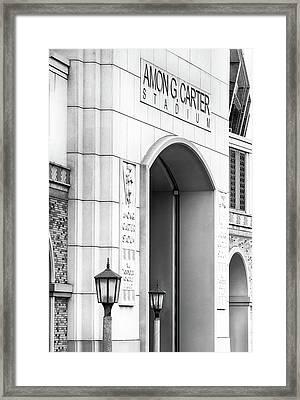 Amon Carter Stadium 110416 Bw Framed Print