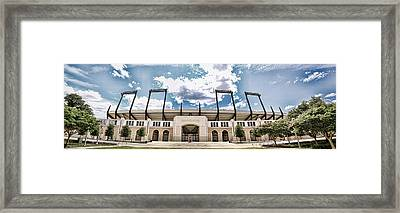Amon Carter Stadium - Tcu Framed Print by Stephen Stookey