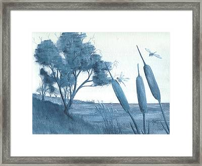 Among The Cattails... No. Four Framed Print by Robert Meszaros