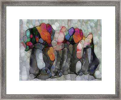 Among The Croud Framed Print