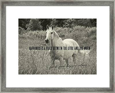 Among The Daisies Quote Framed Print by JAMART Photography