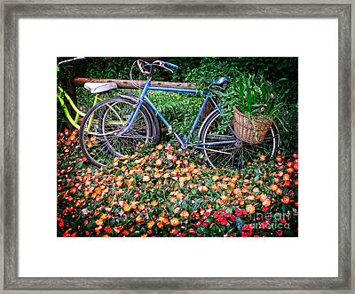 Among The Flowers Framed Print