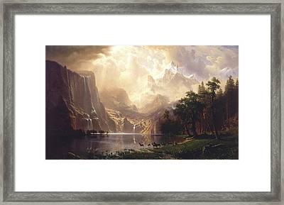 Among The Sierra Nevada, California, 1868 Framed Print by Albert Bierstadt