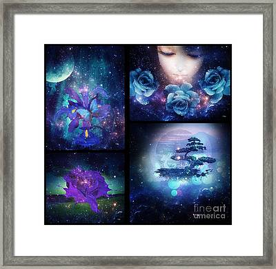 Among The Stars Series Framed Print by Mo T