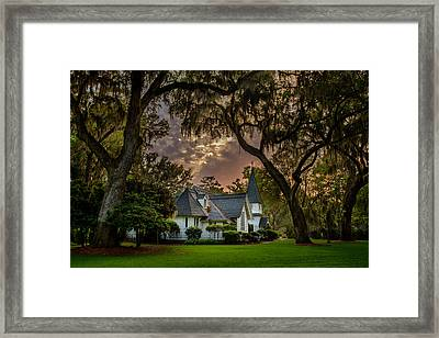 Amongst Mighty Oaks Framed Print
