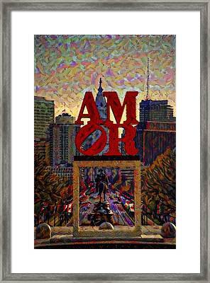 Amor In Mirror - Philadelphia Framed Print
