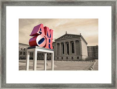 Framed Print featuring the photograph Amor - Love by Bill Cannon