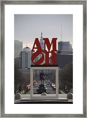 Amor - Philadelphia In Mirror Framed Print