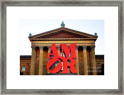 Amor Sculpture Framed Print by Andrew Dinh