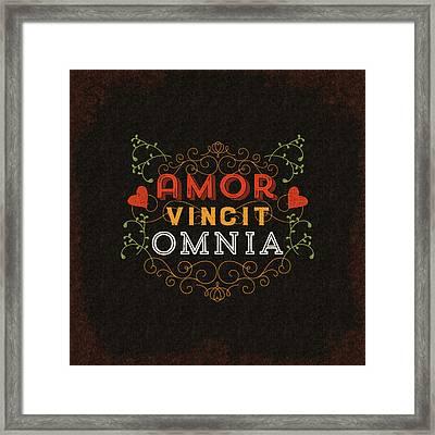 Amor Vincit Omnia Framed Print by Antique Images