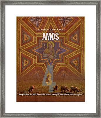 Amos Books Of The Bible Series Old Testament Minimal Poster Art Number 30 Framed Print by Design Turnpike