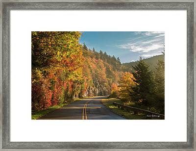 Amoung The Clouds Blue Ridge Mountain Parkway Art Framed Print by Reid Callaway