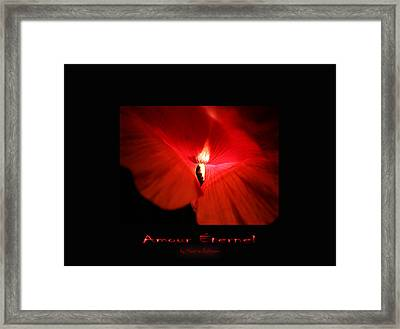 Amour Eternel Framed Print by Martina  Rathgens