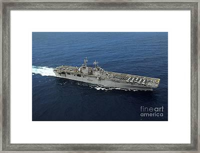 Amphibious Assault Ship Uss Kearsarge Framed Print